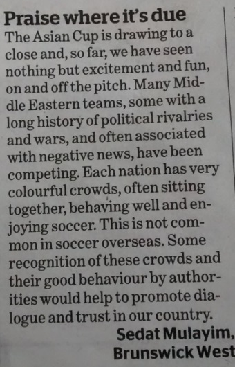 Letter to The Age