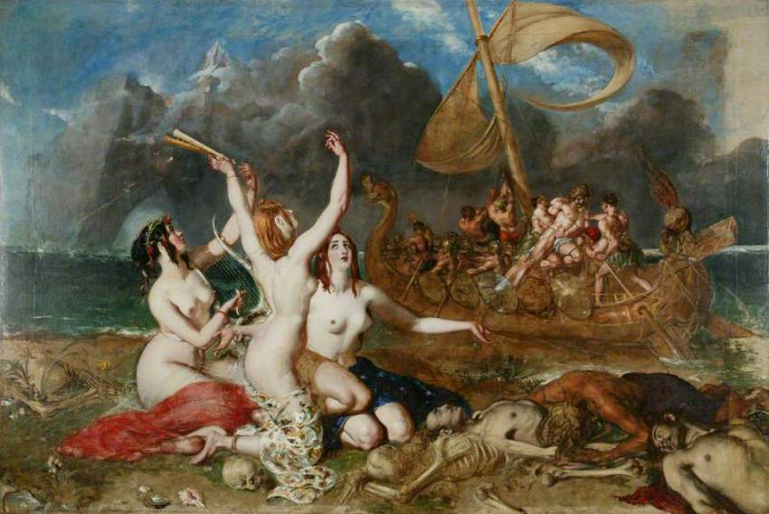 The Sirens and Ulysses by William Etty, 1837.