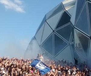 North Terrace Melbourne Victory fans