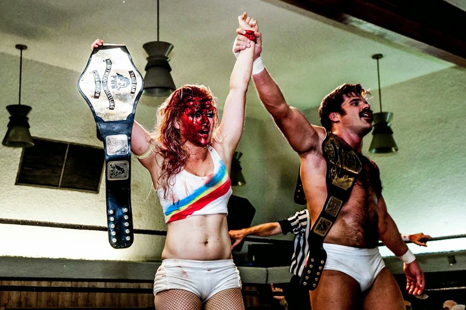 As PWG's lone female wrestler, Candice LeRae fights men, has won the PWG tag titles with Joey Ryan, and undoubtedly is 'tougher than you' (Source: Devin Chen Photography)