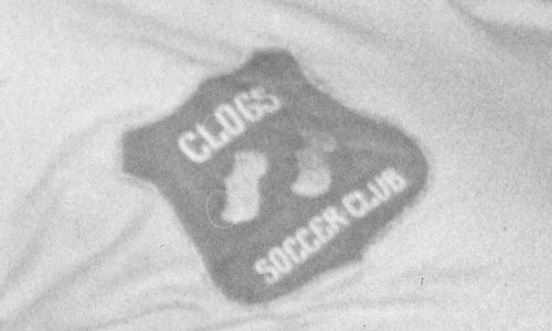 The wonderful crest of Clogs Soccer Club.