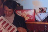 Petar with Red Star flag