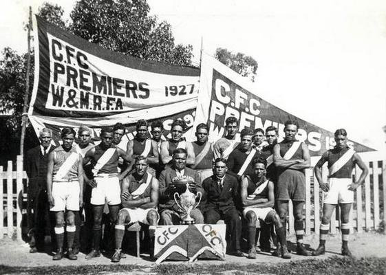 Cummeragunja Football Team (1927). Source: Yorta Yorta Nation Aboriginal Corporation