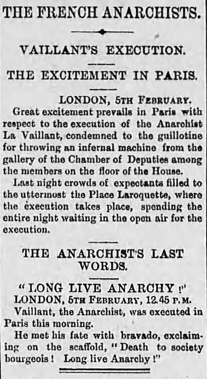 The Age Feb 6 1894 Vaillant